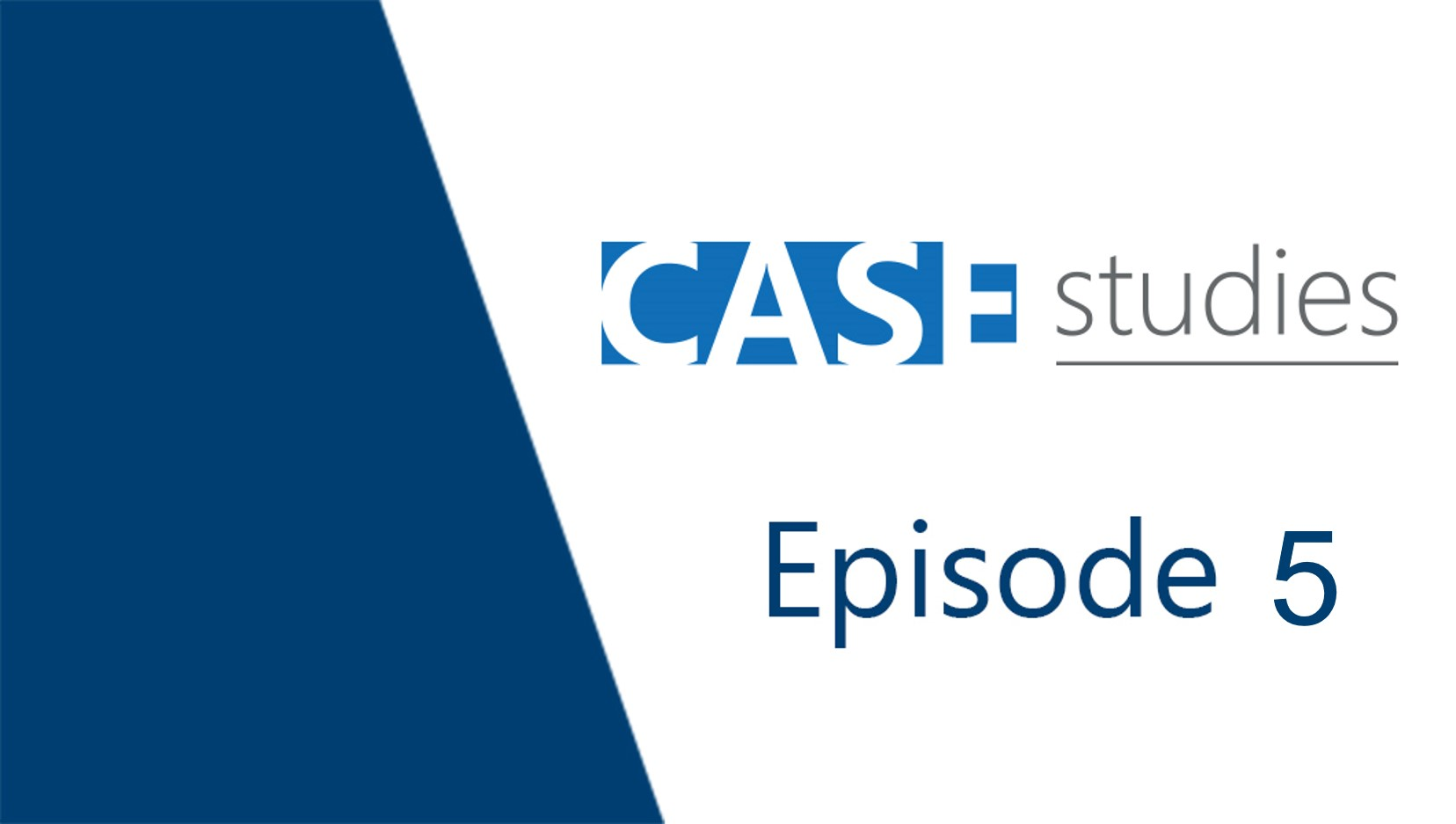CASE Studies: Ep5 - Electrification