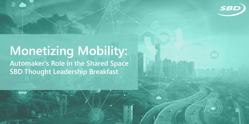 SBD Automotive host mobility thought leadership