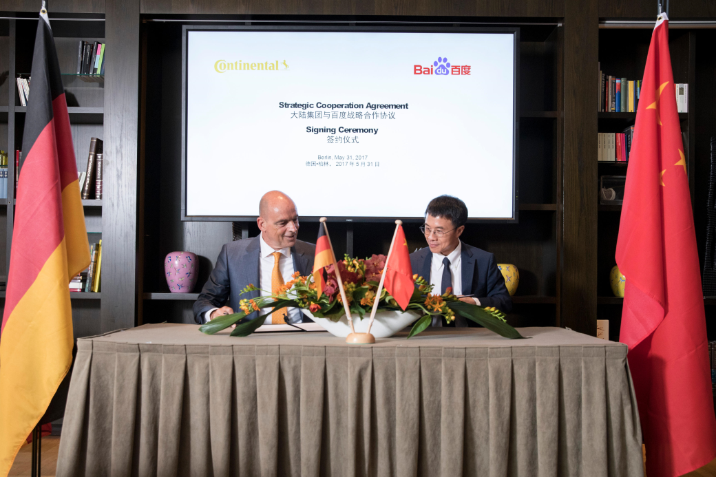 Continental partners with Baidu on intelligent mob