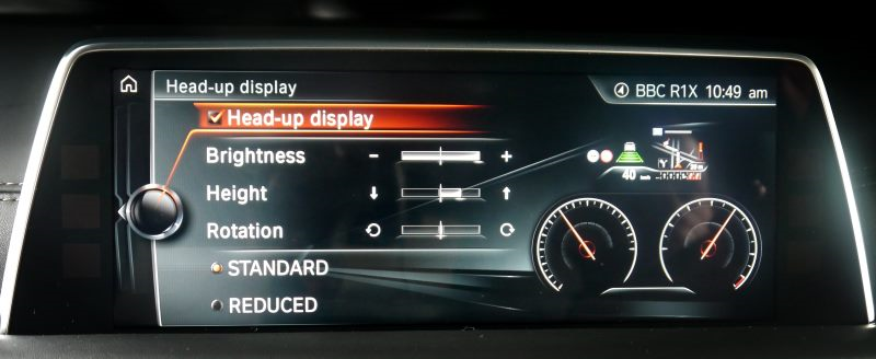 Head-up-display menu
